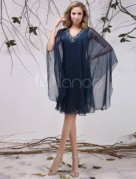 robe maman mariã e robe mère de mariés en chiffon bleu marine foncé avec applique