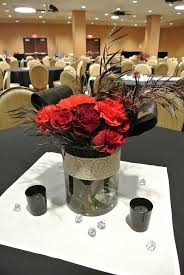 Black And Silver Centerpieces by 30 Best Wedding Red White Black Silver Images On Pinterest