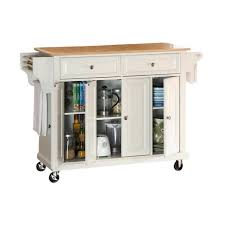 crosley furniture kitchen cart crosley furniture wood top kitchen cart in white kf30001ewh