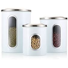 kitchen canister amazon com fc airtight window kitchen canister stainless steel