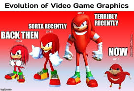 Meme Centar - evolution of knuckles graphics taken from memecenter com imgflip