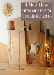 4 interior design trends 2016 thrifty home