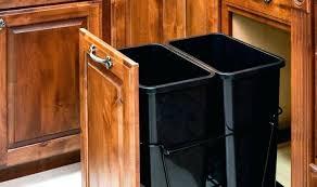 under sink trash pull out under sink trash can kitchen cabinet trash can pull out under sink