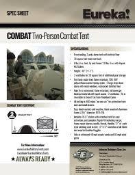 Eureka Bathtub 2 Person Combat Tent
