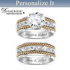 Western Wedding Rings by Western Romance Personalized Womens Bridal Ring Set