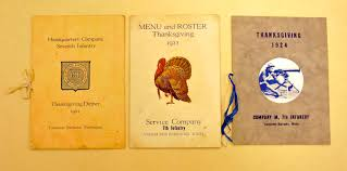 museum preserves menus of thanksgiving meals served to vancouver