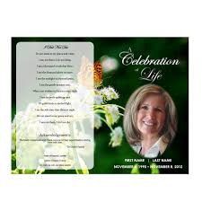 funeral programs butterfly memorial program funeral phlets