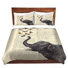 Indie Duvet Covers Amazon Com Dianoche Designs Madame Memento Elephant Butterflies