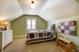 Simple Bedroom by Simple Bedroom Interior With Vaulted Ceiling And Light Green