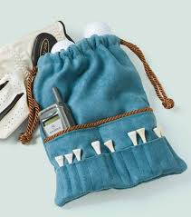 diy golf accessories bag great for any golfer suede crafts