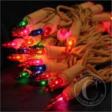 50 multi color lights 2 5 inch white wire