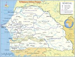 map of be administrative map of senegal nations project