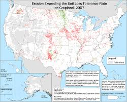 Where Is Alaska On The United States Map by Soil Erosion On Cropland 2007 Nrcs
