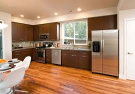 kitchen desaign chic vinyl flooring idea with modern design in