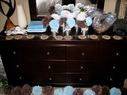 blue and brown baby shower table decorations pink camo baby shower