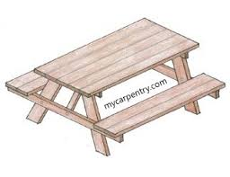 Outdoor Table Plans Free by Free Picnic Table Plans