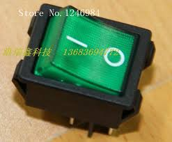 lighted rocker switch 12v sa power switch taiwan group legs black edge green dual 12v dc large