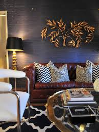 Grey Living Room With Yellow Accent Wall Vintage Navy Blue Living Room With Gold Decor And Chesterfield