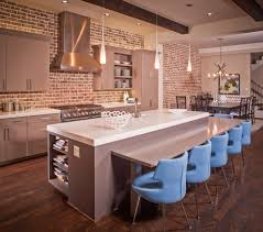 designer kitchen splashbacks exposed brick kitchen splashback kitchen contemporary with