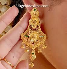 kerala earrings kerala jewellery archives 22kgolddesigns