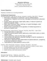 resumes for nursing assistants template cna resume sample cna