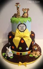 jungle baby shower cakes safari baby shower cake baby boy shower safari