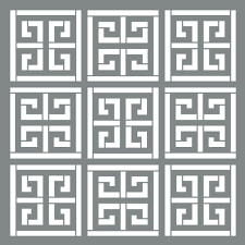 decoart americana decor 6 in x 6 in greek key stencil ads555 b decoart americana decor 6 in x 6 in greek key stencil