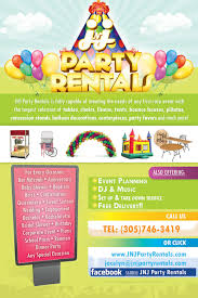 party rental hialeah flyer design jnj party rentals of hialeah