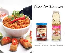 cuisine spicy spicy but delicious mixed steamed rice with shrimp flavored
