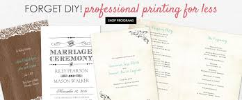 cheap ceremony programs cheap wedding stationery discount wedding stationery s