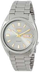 seiko men u0027s analogue automatic watch with stainless steel bracelet