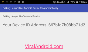 device id android getting a unique id of android device programmatically viral