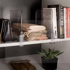 ybmhome acrylic shelf dividers closet shelves organizer
