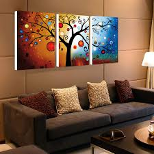 3 panel lucky tree modern abstract print painting unframed wall