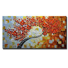 orange dining room dining room abstract painting wall amazon com