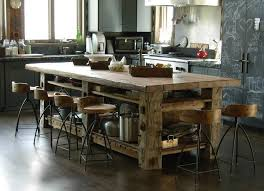 rustic kitchen island photoset 5414 table built with hewn timbers and reclaimed