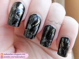 black gold and silver elegant nail art design nail art by make