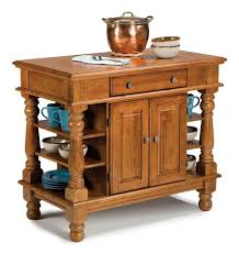buy alexandria natural wood top kitchen island in classic cherry