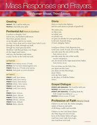 catholic mass prayers responses catholictv