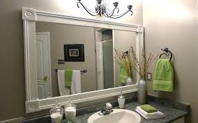 Bathroom Mirror Molding Crown Molding In Bathroom Crown Molding In Bathroom Image For