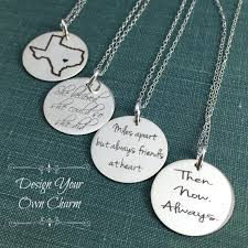 engravable sterling silver charms personalized jewelry engraved charms sterling silver