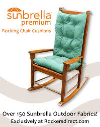 Sunbrella Patio Furniture Cushions Decor Tips Comfortable Outdoor Rocing Chair With Turquoise Fabric