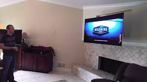 Extended Tv Wall Mount 65 Inch Led Lg Tv With Motorized Wall Mount Paradise Systems Tampa