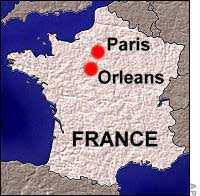 Map: France with Orleans