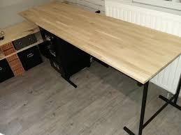 bureau avec treteau bricolage de l idée à la réalisation bureau tréteau métal look
