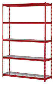 amazon com muscle rack ur184872 r 5 shelf steel shelving unit 48