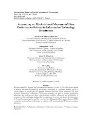accounting vs market based measures of firm performance related