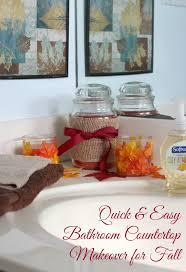 Easy Bathroom Makeover - quick u0026 easy diy bathroom makeover for fall tutorial diary of
