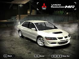 mitsubishi evolution 1 need for speed most wanted mitsubishi lancer evolution viii mr