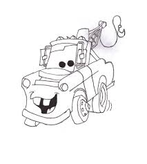 mater cars 2 coloring pages kids printable free